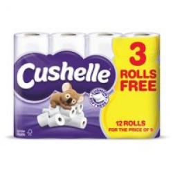 Cheap Stationery Supply of Cushelle Toilet Rolls Wt 12 Rolls Office Statationery
