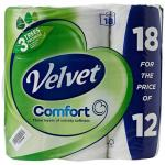 Velvet Toilet Roll Pack 18