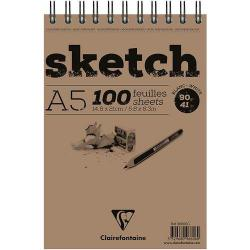 Cheap Stationery Supply of Sketch Wirebnd Pad A5 100sh White Office Statationery