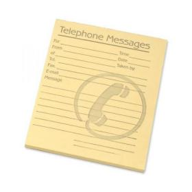 Challenge Telephone Message Pad 80 Sheets 127x102mm Yellow Paper Pack of 10