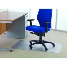 Cleartex Chair Mat Carpet 1200x750mm Clear FL74288