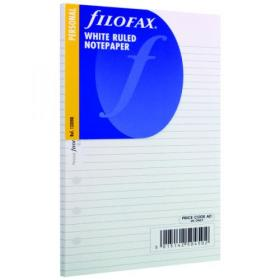 Filofax Refill Personal Ruled Paper White (Pack of 30) 133008