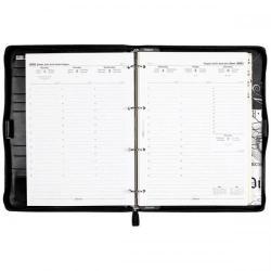 Cheap Stationery Supply of Filofax Lyndhurst Personal Organiser A4 Black 027421 Office Statationery