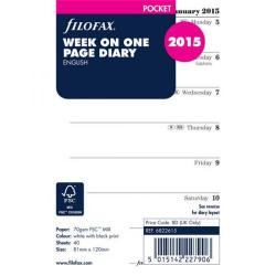 Cheap Stationery Supply of Filofax 2015 Diary Refill 2 Weeks to View for Pocket Organisers 6822615 Office Statationery