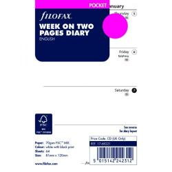 Cheap Stationery Supply of Filofax Pocket Week to View 2018 Refill 18-68221 Office Statationery