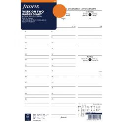 Cheap Stationery Supply of Filofax A4 Week to View Appointments 2018 Refill 18-68714 Office Statationery