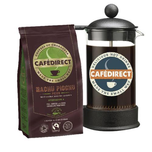 Cafedirect Machu Picchu 227g with FOC 8 Cup Cafetiere GAL838106500 x 500 jpeg 31kB