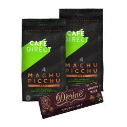 Cheap Stationery Supply of Cafedirect Organic Ground Machu Picchu Coffee 227g (Pack of 2) FOC Divine Chocolate Bar GAL838127 Office Statationery
