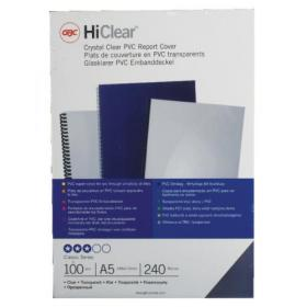 GBC HiClear A5 PVC Binding Covers Clear (Pack of 100) 4400025