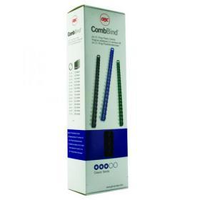 GBC CombBind Binding Combs 8mm Black (Pack of 100) 4028174