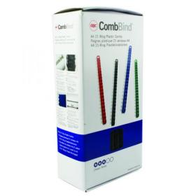 GBC CombBind Binding Combs 12mm Black (Pack of 100) 4028177
