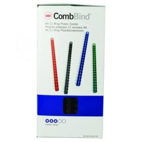 GBC CombBind Binding Combs 14mm Black (Pack of 100) 4028178