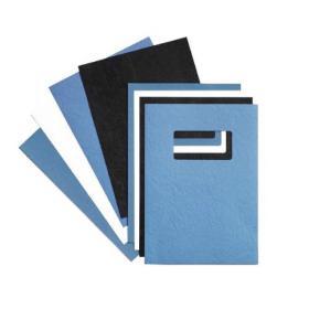 GBC LeatherGrain A4 Title Window Binding Blue (Pack of 50) 46735E