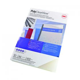 GBC PolyClearView A4 Binding Cover 350 Micron Matte (Pack of 100) IB387166