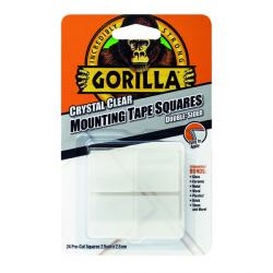Cheap Stationery Supply of Gorilla Mounting Tape Squares Clear (Pack of 24) 3044111 Office Statationery