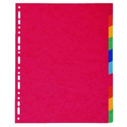 Cheap Stationery Supply of Exacompta Pressboard Dividers 10-Part  A4 Maxi 2410E Office Statationery