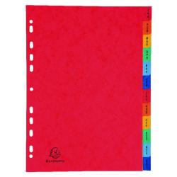 Cheap Stationery Supply of Exacompta Europa Coloured Pressboard Index 12-Part January-December A4 3109Z Office Statationery