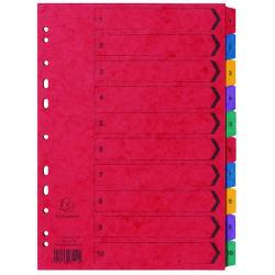 Cheap Stationery Supply of Exacompta Europa Coloured Pressboard Index 1-10 A4 3111Z Office Statationery