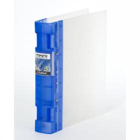 Guildhall GLX Ergogrip Ring Binder Frosted A4 Blue (Pack of 2) 4542