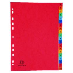 Cheap Stationery Supply of Exacompta Europa Coloured Pressboard Index 20-Part A-Z A4 4803Z Office Statationery