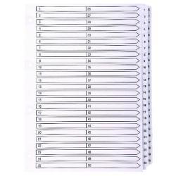 Cheap Stationery Supply of Exacompta Guildhall Mylar Index 1-50 A4 White MWD1-50Z Office Statationery