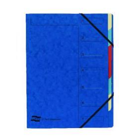 Exacompta Europa 7-Part Organiser 400gsm Pressboard A4 Blue 5219Z