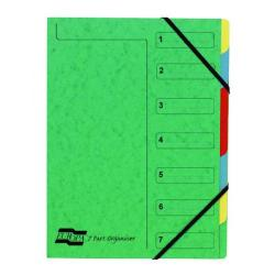 Cheap Stationery Supply of Exacompta Europa 7-Part Organiser 400gsm Pressboard A4 Green 5220Z Office Statationery