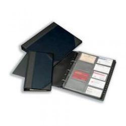 Cheap Stationery Supply of Goldline Business Card Binder 128 Capacity Half Bound Cover Blue DBCB4/BL DBCB4/BL Office Statationery