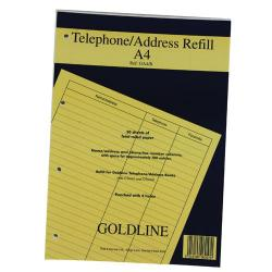 Cheap Stationery Supply of Goldline Address Book Refill Ruled Feint A4 Pack of 1 GA4/R Office Statationery