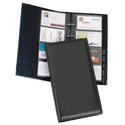 Cheap Stationery Supply of Goldline Business Card Holder Stitched Cover Black Capacity 128 SBCB4/Black Office Statationery
