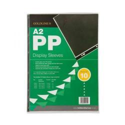Cheap Stationery Supply of Goldline PVC Display Sleeve A2 Clear SLA2XZ SLA2XZ Office Statationery