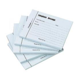 Exacompta Guildhall Telephone Message Pad 100 Sheet 127x102mm (Pack of 5) 1571