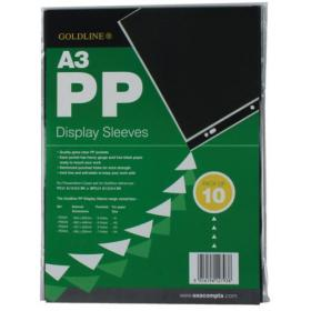 Goldline Polypropylene Display Sleeve A3 (Pack of 10) PDSA3Z