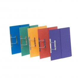 Exacompta Europa Spiral Pocket Files Foolscap Assorted (Pack of 25) 3010Z