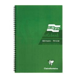 Cheap Stationery Supply of Clairefontaine Europa Notebook 180 Pages A5 Green (Pack of 5) 5810Z Office Statationery