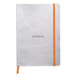 Cheap Stationery Supply of Rhodiarama Soft Cover A5 160 Pages Silver Notebook 117401C Office Statationery