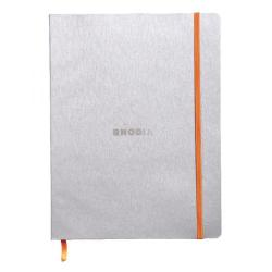 Cheap Stationery Supply of Rhodiarama Soft Cover 190x250mm 160 Pages Silver Notebook 117501C Office Statationery