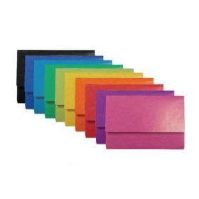 Exacompta Iderama Pocket Wallet Foolscap Assorted (Pack of 25) 6500Z
