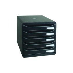 Cheap Stationery Supply of Exacompta Big Box Plus 5 Drawer Black 309714D Office Statationery