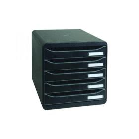 Exacompta Big Box Plus 5 Drawer Black 309714D