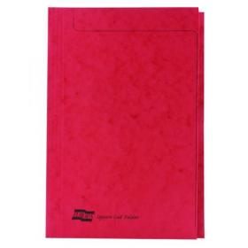 Europa Square Cut Folder 300 micron Foolscap Red (Pack of 50) 4828