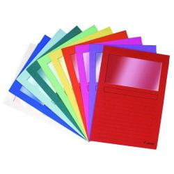 Cheap Stationery Supply of Exacompta Forever Bright Window Files A4 Assorted (Pack of 100) 50100E Office Statationery
