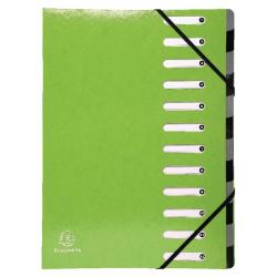 Cheap Stationery Supply of Exacompta Iderama 12-Part File A4 Lime 53923E Office Statationery