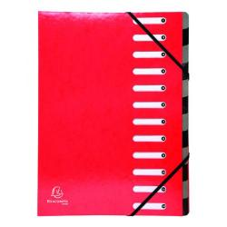 Cheap Stationery Supply of Exacompta Iderama 12-Part File A4 Red 53925E Office Statationery