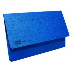 Exacompta Europa Pocket Wallet Foolscap Blue (Pack of 10) 5255Z