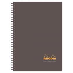 Cheap Stationery Supply of Clairefontaine Rhodia Business A4 Wirebound Notebook Brown with Polypropylene Cover Pack of 3 with FREE A4 A-Z Notebook GH811349 Office Statationery