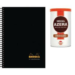 Cheap Stationery Supply of Rhodia A4 Meeting Book Hardback 160 Pages Black Pk3 Buy 2 Get FOC Nescafe Azera 100g GH811482 Office Statationery