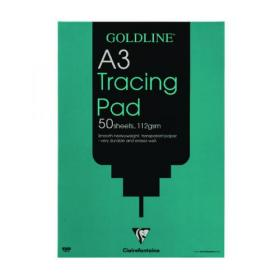 Clairefontaine Goldline Heavyweight Tracing Pad 112gsm A3 50 Sheets GPT3A3