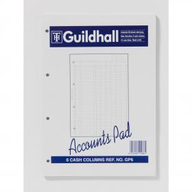 Exacompta Guildhall 6-Column Cash Account Pad A4 GP6