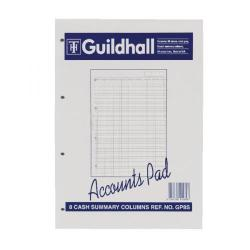 Cheap Stationery Supply of Exacompta Guildhall Account Pad 8-Column Summary A4 GP8S Office Statationery